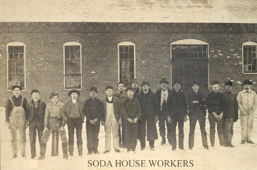 Soda house workers